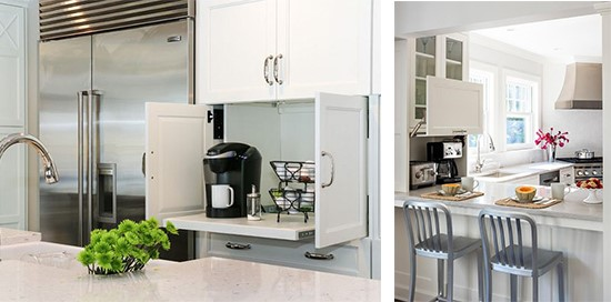 Hide and peek – hidden kitchen appliances - Synergy Cabinets